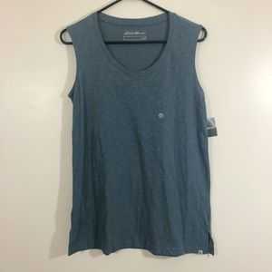 NWT Eddie Bauer Scoop Neck Tank Top sz Small Gray